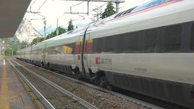 Modern intercity train. stock video footage