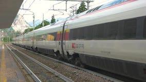 Modern Intercity train. stock footage