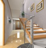 Modern interior. The modern interior with stair Royalty Free Stock Images