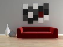 Modern interior. 3d generated render of modern urban interior Stock Images