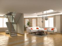 Modern interior stock illustration