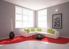 Modern interior Stock Photos