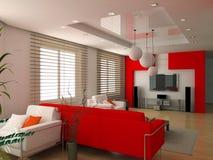 Modern interior. Design (privat apartment 3d rendering royalty free illustration