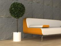 Modern interior. 3d generated render of modern urban interior Royalty Free Stock Photo