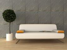Modern interior. 3d generated render of modern urban interior Stock Image