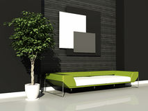 Modern interior. 3d generated render of modern urban interior Stock Photography