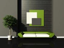 Modern interior. 3d generated render of modern urban interior Royalty Free Stock Photos