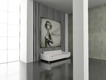 Modern interior. Modern interior with the fashionable picture. Exclusivity design stock illustration