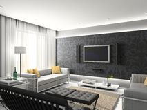 Modern interior. stock illustration