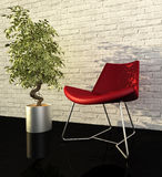 Modern interior. 3d generated render of urban design Stock Photography