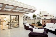 Modern Interior. Balcony Interior Design - Modern Interior Royalty Free Stock Images