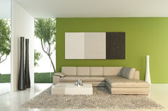 Modern interior. 3d generated render of modern interior Royalty Free Stock Photography