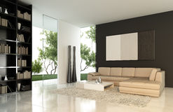 Modern interior. 3d generated render of modern interior Stock Photo