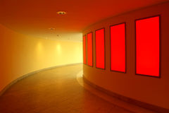 Modern interior. With red lightwall Stock Photo