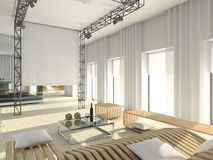 Modern interior. Royalty Free Stock Photos