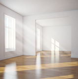 Modern interior. Sunlit empty room Stock Images