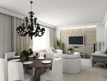 Modern interior. royalty free illustration