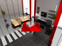 Modern interior. Of a room of rest royalty free stock photography