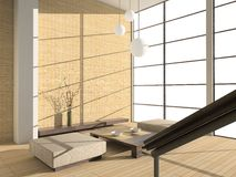 Modern interior. 3D render. Living-room royalty free stock images