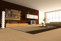 Modern interior. Of a hall Royalty Free Stock Images