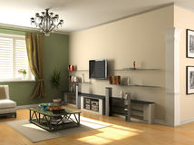 Modern interior. Design (private apartment 3d rendering