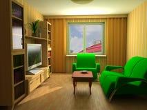 Modern interior 3d. Apartment modern interior design sofas Stock Photos
