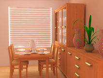 Modern interior 3d Royalty Free Stock Image
