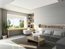 Modern interior. 3D render Stock Photography