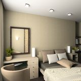 Modern interior. 3D render Stock Images