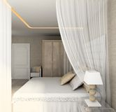 Modern interior. 3D render Royalty Free Stock Images