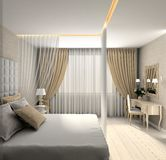 Modern interior. 3D render Royalty Free Stock Photo