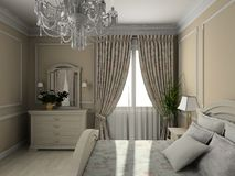 Modern interior. 3D render Royalty Free Stock Photos