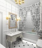 Modern interior. 3D render Royalty Free Stock Photography
