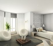Modern interior. 3D render Royalty Free Stock Image