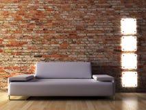 Modern interior. The conceptual image of a modern interior Royalty Free Stock Photo