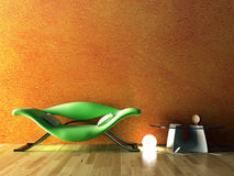 Modern interior. The conceptual image of a modern interior Stock Images