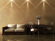 Modern interior. The conceptual image of a modern interior Stock Photo