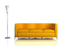 Modern interior. The conceptual image of a modern interior Royalty Free Stock Photography