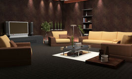 Modern interior. Interior of a room with upholstered furniture Royalty Free Stock Photo