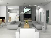 Modern interior. Royalty Free Stock Photography