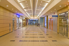 Modern interior. Corridor in airport Royalty Free Stock Photography