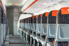 Modern interior of airplane Royalty Free Stock Images