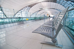 Modern interior airport stock images