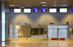 Modern interior of airport terminal Stock Photography