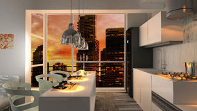 Modern interior apartment Stock Photography