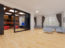 Modern interior of apartment Royalty Free Stock Image