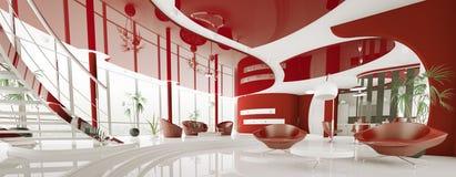 Modern interior of apartment panorama 3d render Stock Image