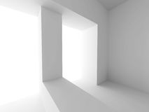 Modern Interior Background. Abstract White Architecture Wallpape Stock Photography