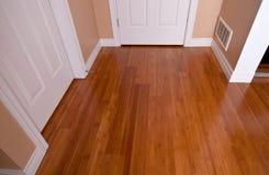 Modern interior bamboo hardwood flooring after renovation Stock Images