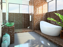 Modern interior of the bathroom Royalty Free Stock Photo